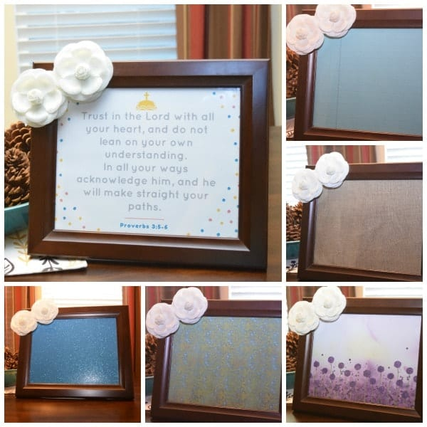 Picture Frame Message Board Examples