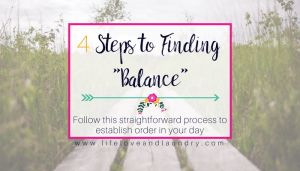 4 Steps to Finding Balance