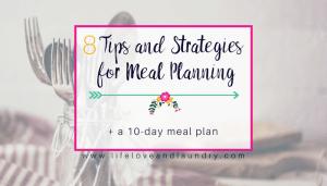 8 Meal Planning Hacks
