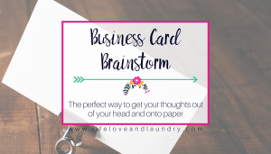 Business Card Brainstorm