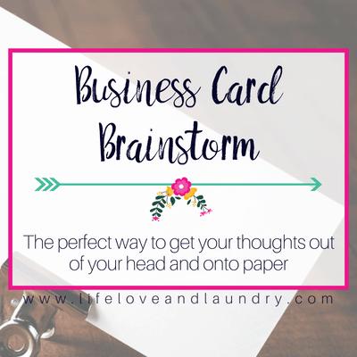 Business Card Brainstorm