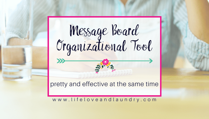 Message Board Organizational Tool