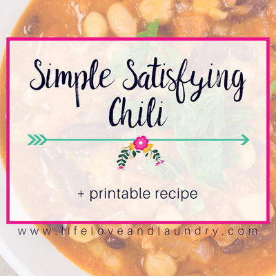 Simple Satisfying Chili