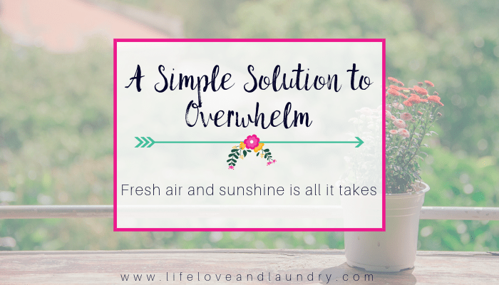 A Simple Solution to Overwhelm