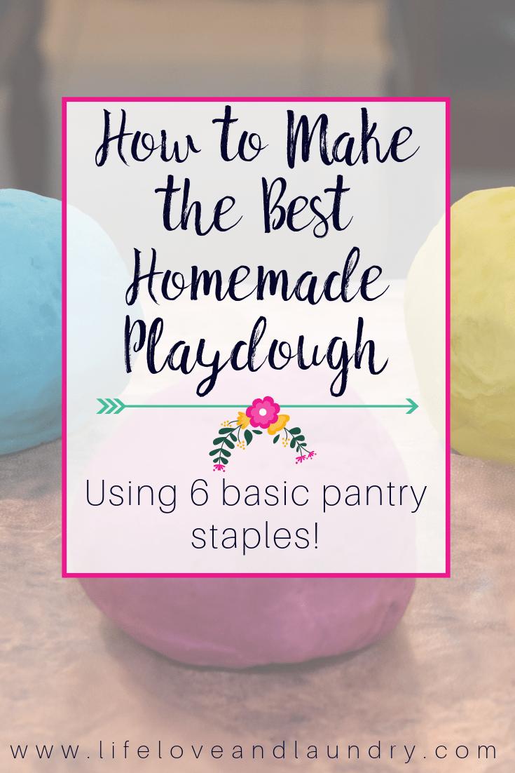 How to Make the Best Homemade Playdough