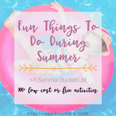 Fun Things To Do During Summer Time