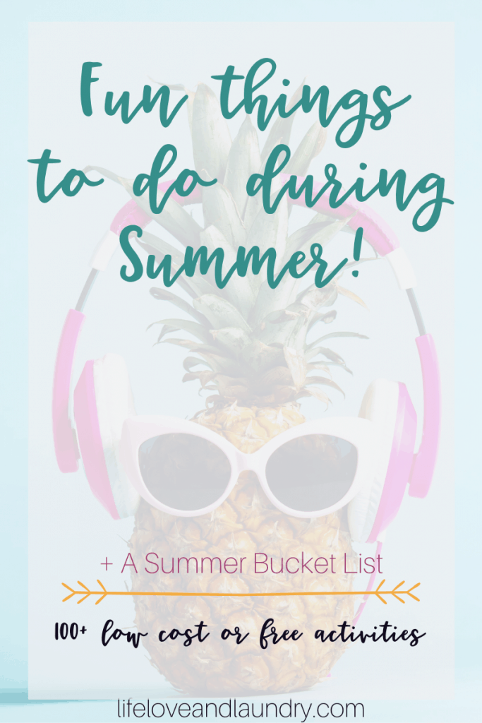 Fun Things To Do During Summer
